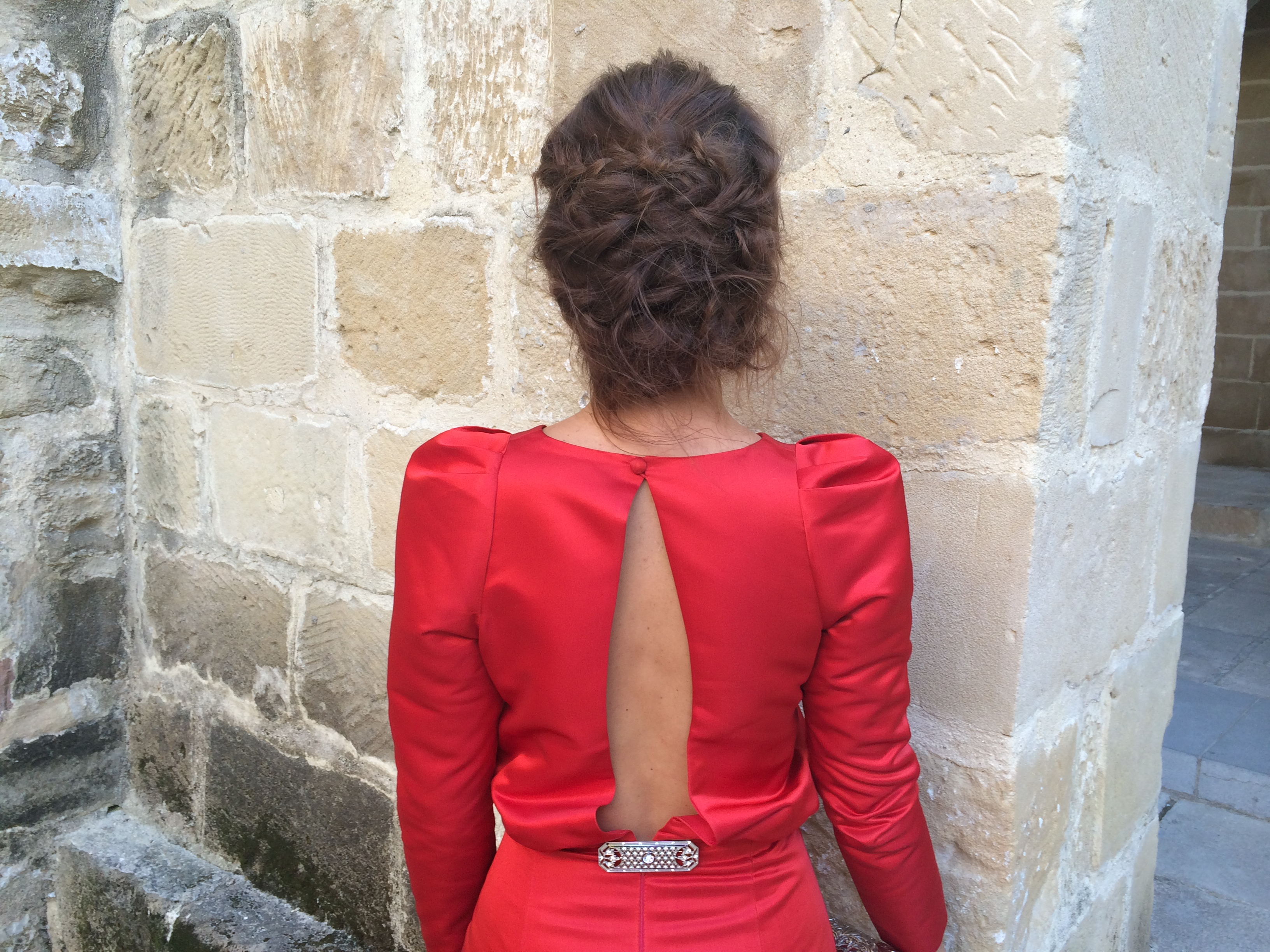 vestido rojo.notas con estilo